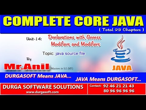 Core Java Declarations with Access Modifiers and Modifiers   java source file