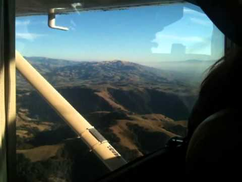 Flying over the mountains into Fremont, CA