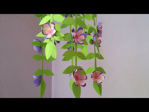 DIY: Home Decoration Idea!!! How to Make Beautiful Flower Wind chime!!!Easy Tutorial For Bigginers!!