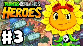 Plants vs. Zombies: Heroes - Gameplay Walkthrough Part 3 - Solar Flare Hero! (iOS, Android)