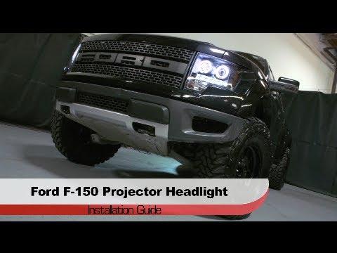 Spyder Auto Installation: 2009-2014 Ford F-150 & SVT Raptor Projector Head Light w/DRL L.E.D.
