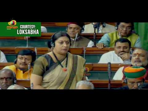 Smriti Irani Speaks On Hand-loom Worker's Development | Lok Sabha | Mango News