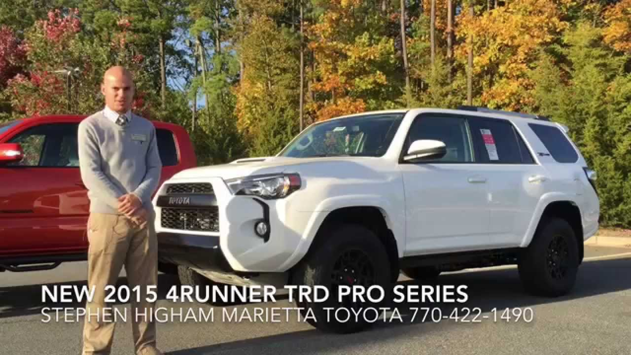 New 2015 4runner Trd Pro Series At Marietta Toyota Youtube
