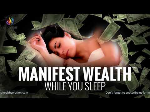 Manifest Wealth While You Sleep ♬ Attract Abundance of Money ♬ Deep Sleep Programming #GV423