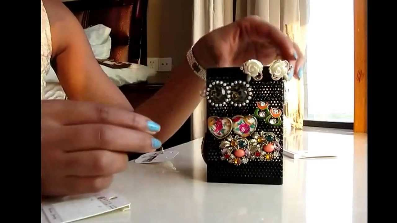 FUN STUFF DIY Jewelry Organizer for Stud Earrings YouTube
