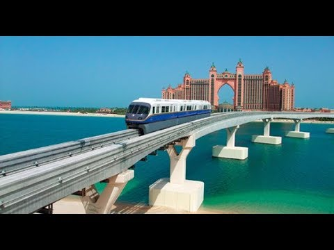 DUBAI MONORAIL Ride | DRIVERLESS Train!! | The Best View of PALM ISLAND 🏝 🔥🔥🔥