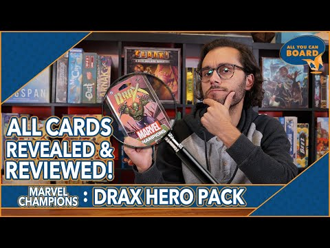 DRAX Hero Pack | Marvel Champions | All New Cards REVIEWED & ANALYZED (4 NEW ALLIES!)