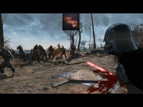DARTH VADER vs Raider Ambush! - Who Would Win  (Fallout 4 Modded Battles)