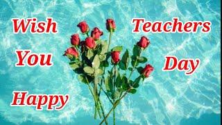 Teacher's Day Whatsapp Status video |wish you Happy Teacher's Day wishes|Teacher's Day status 2020|