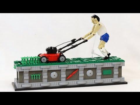 LEGO Lawn Mower Man Kinetic Sculpture thumbnail