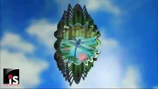 Спиннер анимированный Стрекоза над Лилиями