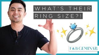 Ring size someones to find How