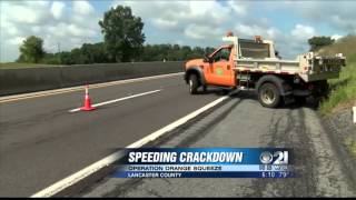Police use construction trucks to catch speedy drivers on Pennsylvania Turnpike