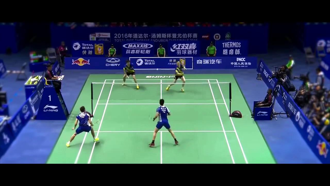 Best Badminton DOUBLES match of 2016 2016 年最佳羽毛球双打 - YouTube