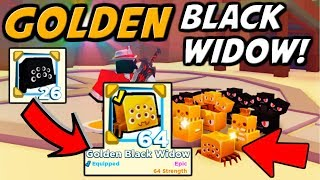 THE *GOLDEN* LEGENDARY BLACK WIDOW!! ONLY 1 IN THE WORLD!! | Pet Simulator 2 (Roblox)