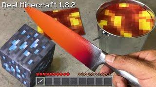 Real Life Minecraft - 1000 degree KNIFE VS DIAMOND ORE