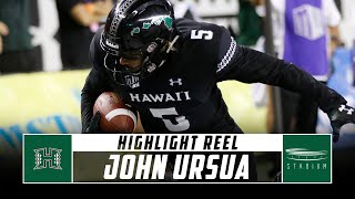 John Ursua Hawaii Football Highlights - 2018 Season | Stadium