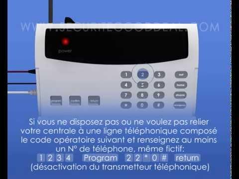 Mode d 39 emploi alarme sans fil 32 zones securitegooddeal youtube - Thermostat frisquet sans fil mode d emploi ...