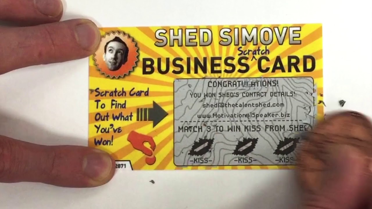 Worlds best business card the business scratchcard from shed worlds best business card the business scratchcard from shed simove colourmoves