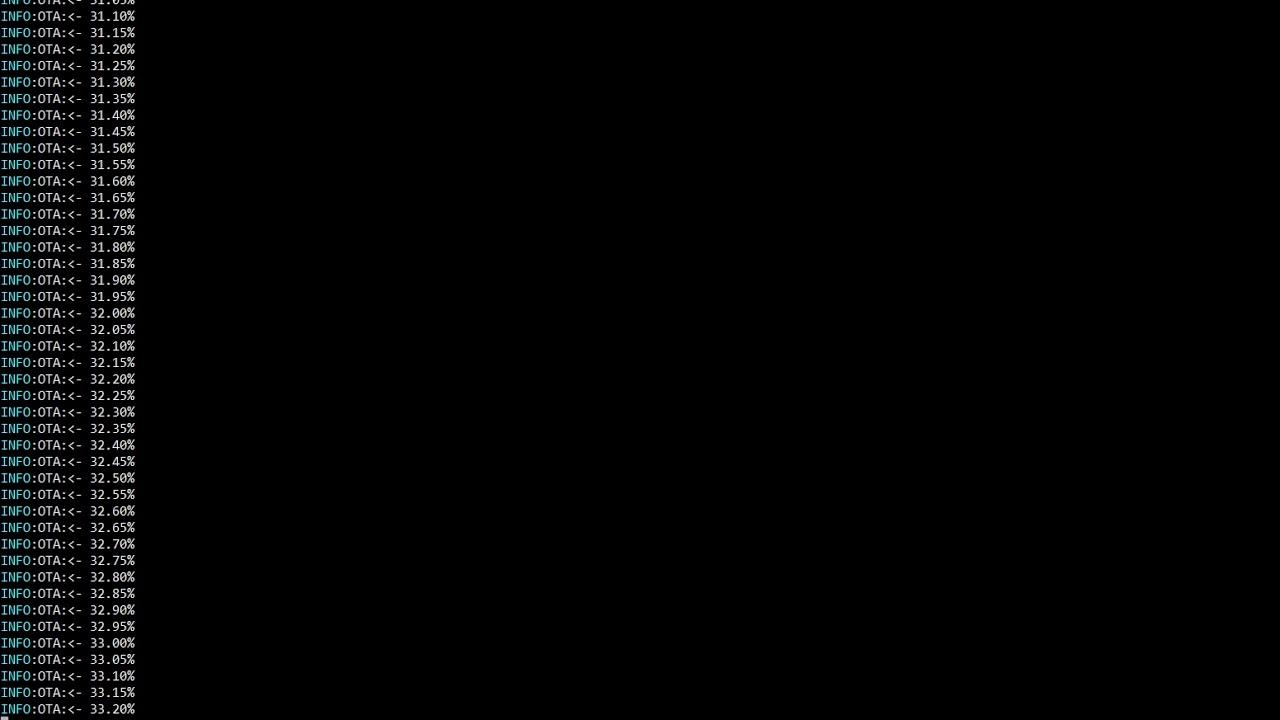 Micropython - ESP32 - OTA - Test with OTA server