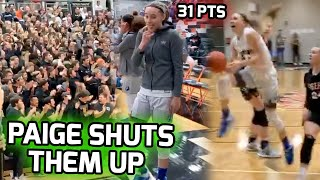 Paige Bueckers SILENCES Feisty Crowd! #1 Ranked Player Drops 31 POINTS In Road Test! 🤫