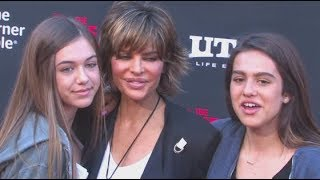LISA RINNA brings her fashion model daughters DELILAH and AMELIA to 'The Lone Ranger' premiere