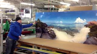 Beautiful photographic prints on metal aluminum. Hawaiian Beach Landscape for Retail Cosmetic Store.