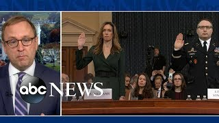 Trump mocks witness during his testimony | ABC News