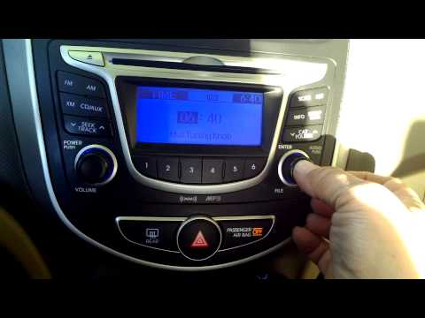 How to set change the clock, 2013 Hyundai Accent