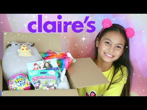 Huge Claire's Haul Box For Tiana Filled With LOL Surprise Dolls and Squishy Toys