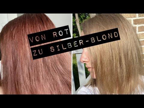 von-braun/rot-zu-silber/blond---kein-orange--&-gelbstich---mega-transformation---haare-selber-färben