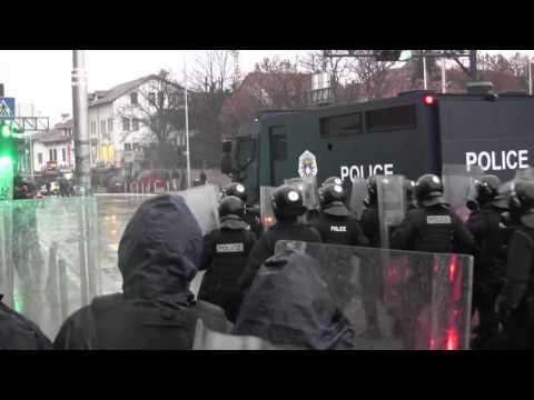 Police Disperse Protesters As Kosovo Presidential Vote Looms