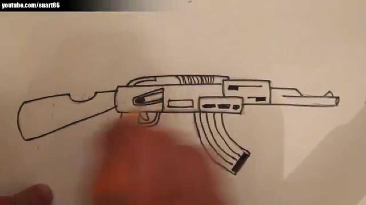 Como Dibujar Un Arma