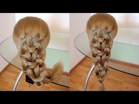 Элегантная причёска  Коса из узлов  Быстрая причёска  Hair Tutorial