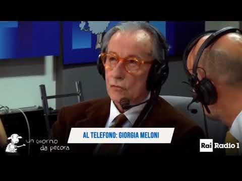Giorgia Meloni a un giorno da pecora canticchia 'Io sono Giorgia'. Feltri: Meloni Futuro premier