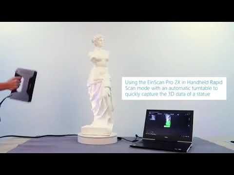 EinScan Pro 2X - 3D Scanning a Statue - SHINING 3D - V-GER