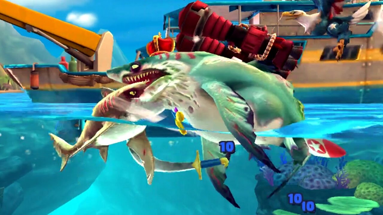 Hungry Shark World Zombie Shark Android Gameplay #6