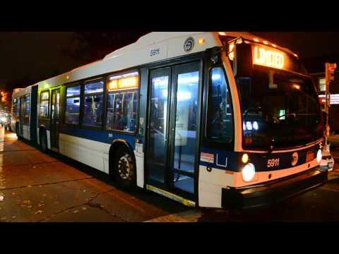 MTA New York City Bus 2012 Nova Bus LFS Artic 5911 On The Q44 Limited @ Main Street & Jewel Avenue