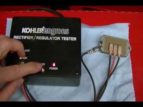 How to Test a 15amp Kohler Regulator Rectifier Using a Kohler Tester 25 761  20 S