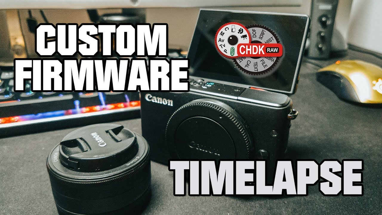 How to hack the Canon EOS M10 and take timelapses / CHDK custom firmware