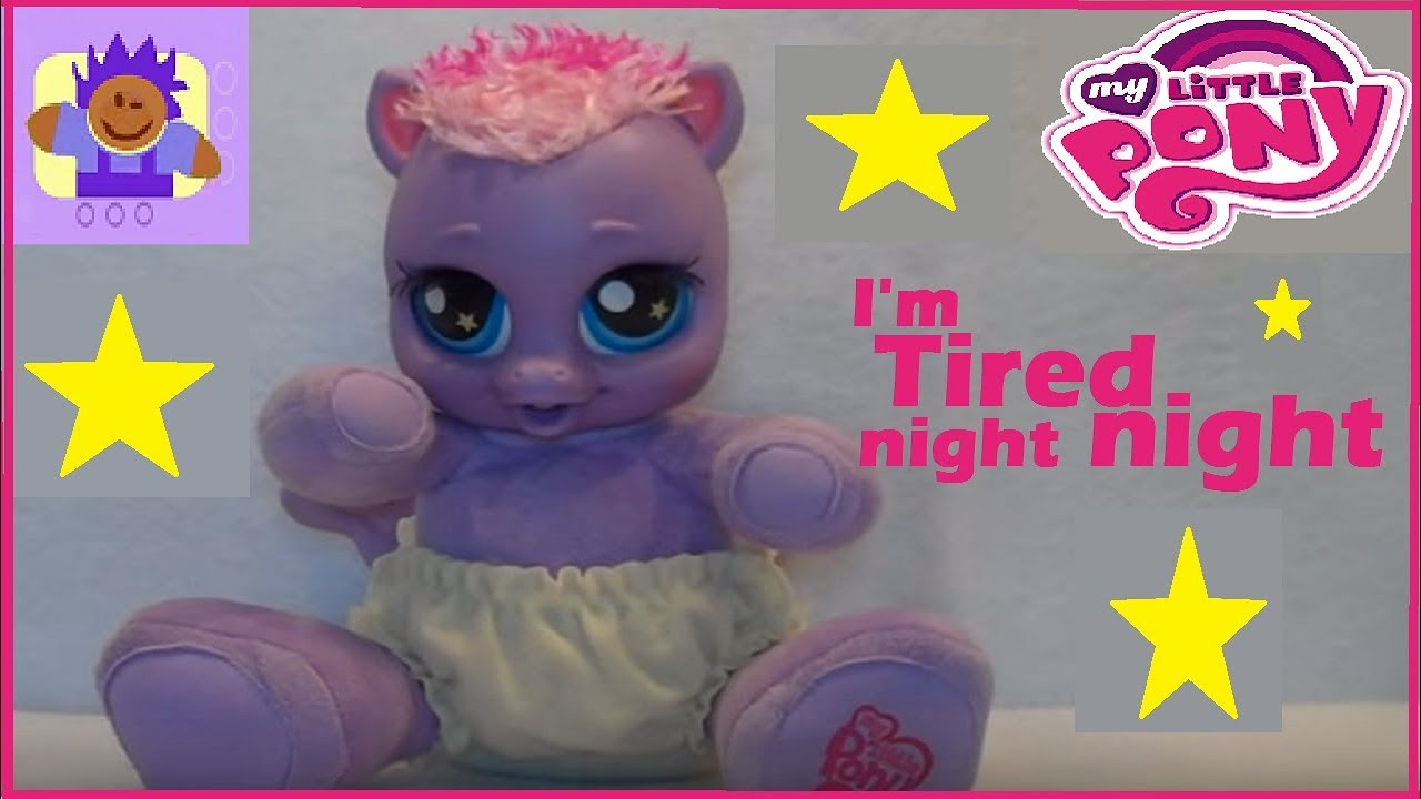 2008 My Little Pony Talking Sleep Amp Twinkle Star Song