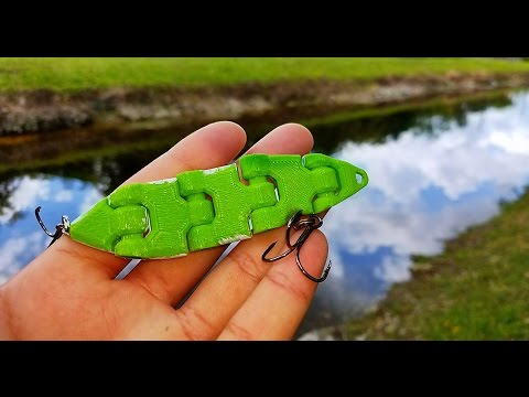 3D Printed Fishing Lure Catches Fish!!! DIY Is This The Future Of