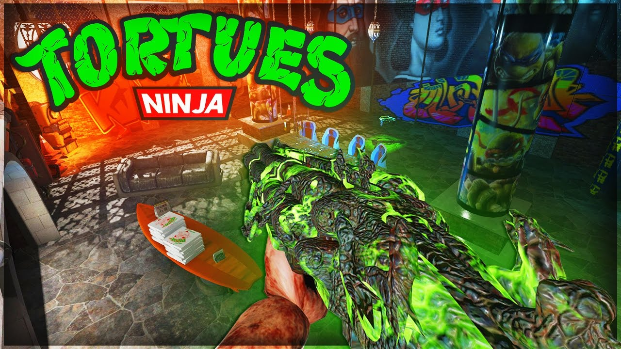 Le rep re des tortues ninja custom map zombie youtube for Repere des tortue ninja