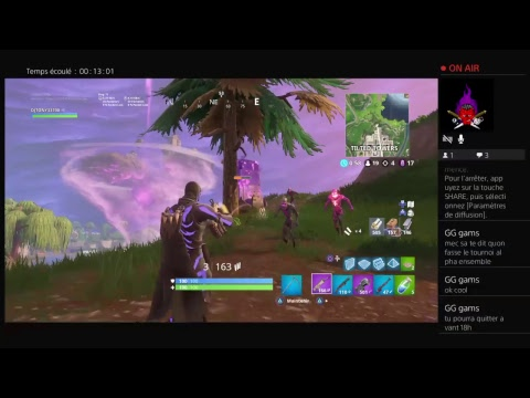Live fortnite solo on monte au 200 top 1[fr][ps4]