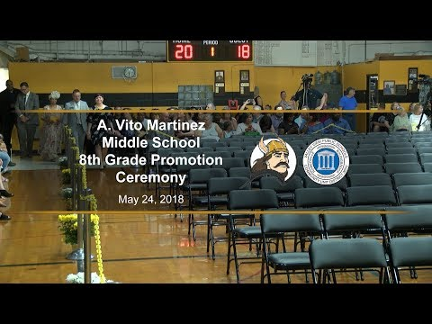 A Vito Martinez Middle School 8th Grade Promotion Ceremony 2018