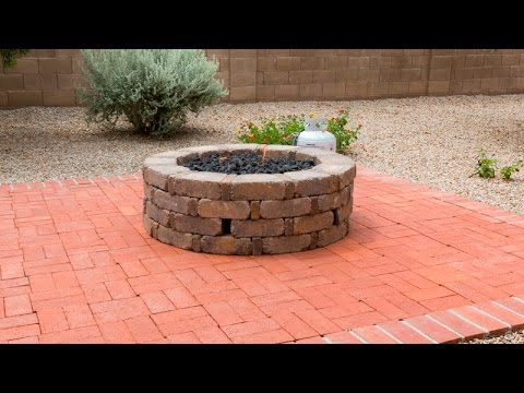 How To Install A Gas Fire Pit - How To Install A Gas Fire Pit - YouTube
