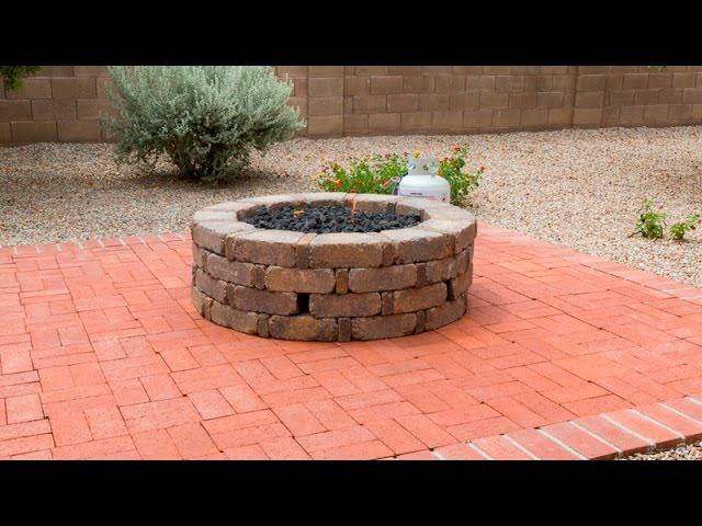 How To Install A Gas Fire Pit Youtube