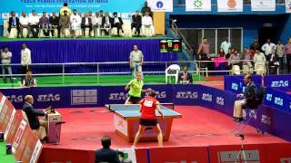 Pooja Sahasrabudhe vs Manika Batra Womens Singles Final 77th National TT Championship