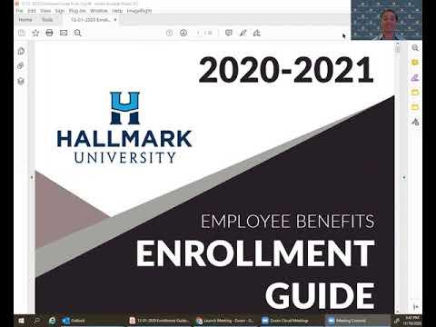 Hallmark University 2020-2021 Employee Benefits