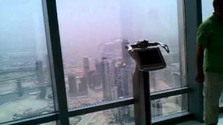 AT THE TOP - Burj Khalifa - panoramic views - souvenir shop